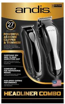 Andis Headliner Men's Electric Clipper & Trimmer Combo 27 Piece Haircutting Kit - 68120
