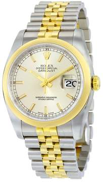 Rolex Datejust 36 Silver Dial Stainless Steel and 18K Yellow Gold Jubilee Bracelet Automatic Men's Watch