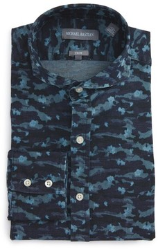 Michael Bastian Men's Trim Fit Camo Print Dress Shirt