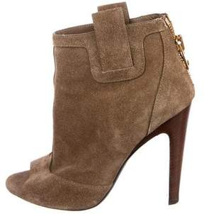 Tom Ford Suede Peep-Toe Booties