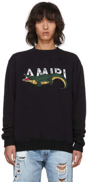 Amiri Black Alligator Logo Sweatshirt
