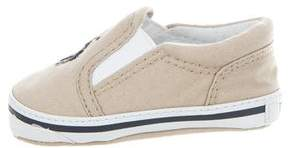 Ralph Lauren Boys' Embroidered Canvas Sneakers