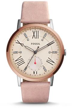 Fossil Gazer Multifunction Blush Leather Watch
