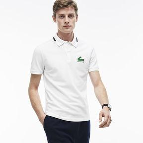 Lacoste Men's Slim Fit Graphic Print Stretch Mini Piqu Polo