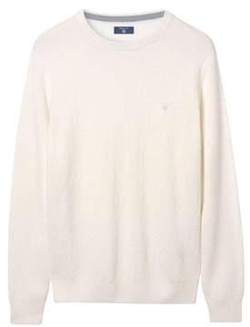Gant Men's White Cotton Sweatshirt.