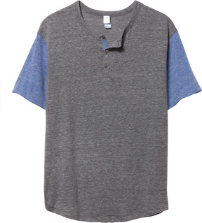 Alternative Apparel Home Run Eco-Jersey Henley Shirt