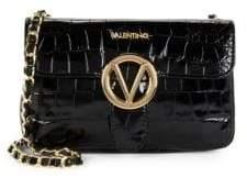 Mario Valentino Poisson Crocodile Leather Crossbody Bag