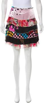 Christian Lacroix Printed A-Line Skirt