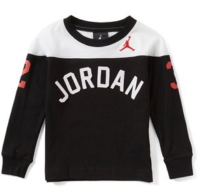 Jordan Little Boys 2T-7 Arch Color Block Long-Sleeve Tee