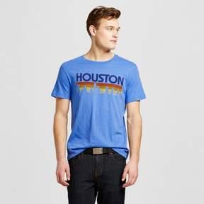 Awake Men's Texas Houston Horizon T-Shirt - Blue
