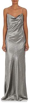 Barneys New York Women's Silk-Blend Lamé Sleeveless Gown