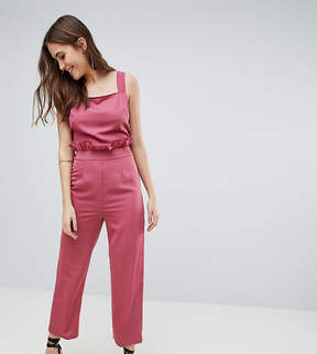 Fashion Union Tall Pinafore Jumpsuit With Tie Back