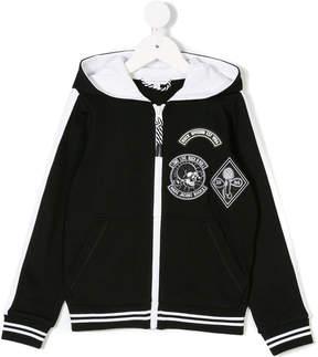 Little Marc Jacobs badge embellished hoodie