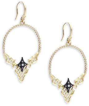 Armenta Women's Old World Diamond, 18K Yellow Gold & Sterling Silver Hoop Earrings- 2in