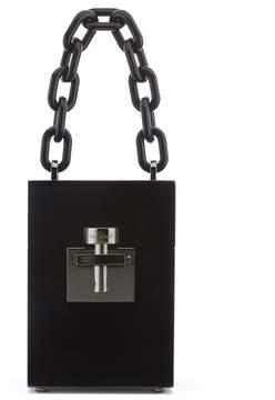Oscar de la Renta Black Acetate Alibi Bag