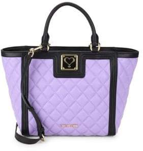 Love Moschino Quilted Faux Leather Tote