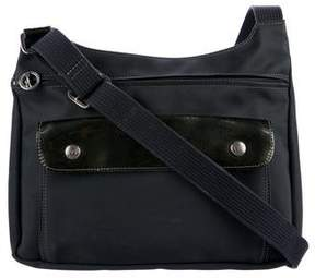 Longchamp Leather-Trimmed Crossbody Bag
