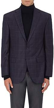 Piattelli MEN'S CHECKED WOOL TWILL TWO-BUTTON SPORTCOAT