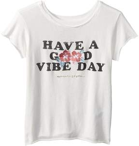 Spiritual Gangster Kids Good Vibe Day T-Shirt Girl's T Shirt