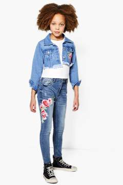 boohoo Girls Oriental Floral Jean