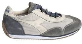 Diadora Men's Blue/grey Fabric Sneakers.