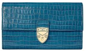 Aspinal of London Mayfair Purse In Deep Shine Topaz Small Croc