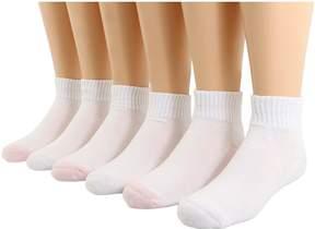 Jefferies Socks Seamless Sport Quarter Sock, 6 Pack, ) Girls Shoes