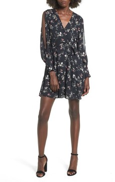 Dee Elly Women's Cold Shoulder Wrap Style Dress