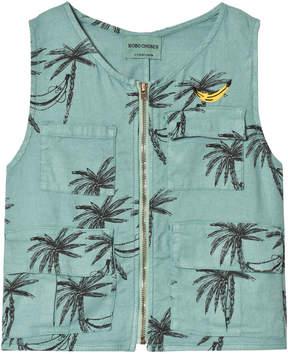 Bobo Choses Beryl Green Siesta Safari Linen Vest