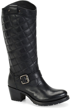 Sonora Black Mardie Quilted Leather Boot