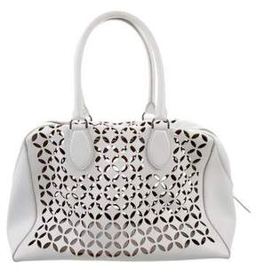 Alaia Laser-Cut Leather Handle Bag