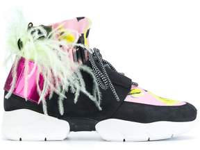 MSGM floral panelled sneakers