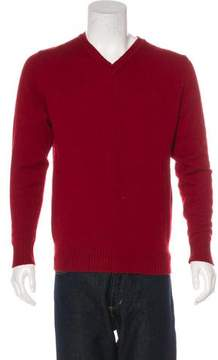Calvin Klein Collection Wool-Blend V-Neck Sweater