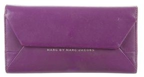 Marc by Marc Jacobs Leather Flap Wallet - PURPLE - STYLE