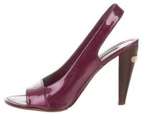 Louis Vuitton Patent Leather Peep-Toe Pumps