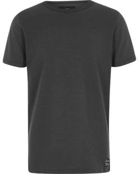 River Island Boys grey waffle T-shirt