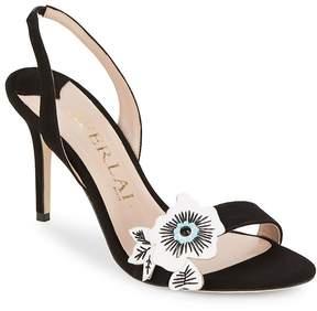 Aperlaï Women's Floral Applique Sandals