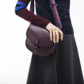 Lacoste Women's Chantaco Christmas Piqu Leather Flap Crossover Bag