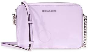 Michael Kors Jet Set Travel Large Saffiano Leather Crossbody- Light Quartz - ONE COLOR - STYLE