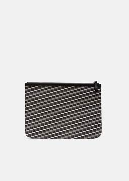 Pierre Hardy X-Large Maroquinerie Canvas Cube Pouch