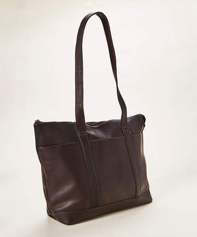 Le Donne Cafe Double-Handle Leather Tote