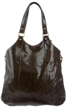 Saint Laurent Python Tribute Tote - GREEN - STYLE