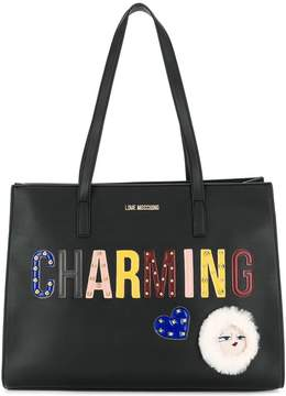 Love Moschino patches tote bag