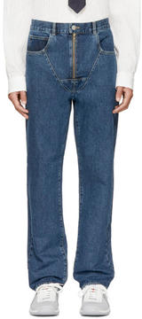 Martine Rose Indigo Strap Jeans