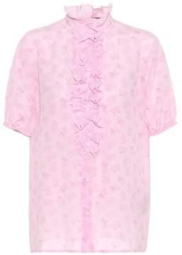 Bottega Veneta Printed silk top