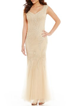 Cachet V-Neck Soutache Gown