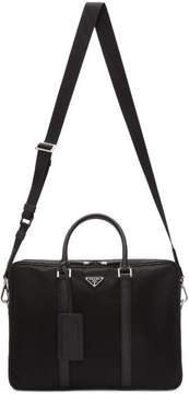 Prada Black Nylon Briefcase
