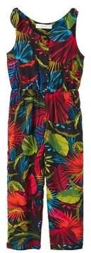MANGO Tropical print jumpsuit