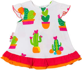 Agatha Ruiz De La Prada White Cactus Print Dress
