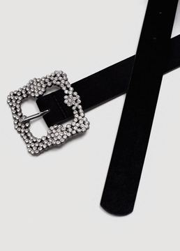 MANGO Strass buckle belt